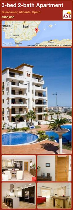 3-bed 2-bath Apartment in Guardamar, Alicante, Spain ►€590,000 #PropertyForSaleInSpain