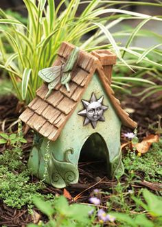 These Toad Houses are Fun and Functional! Charming Butterfly and Sun Design.