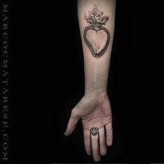 Exvoto cuore tatuaggio Marco C. Matarese Milano