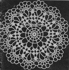 Free Vintage Crochet Lacy Doily Pattern