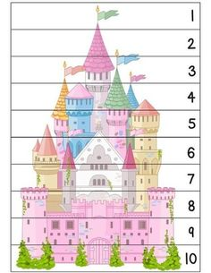 Number puzzle for kids - Cutting Activities, Learning Activities, Preschool Activities, Number Puzzles, Puzzles For Kids, Chateau Moyen Age, Christmas To Do List, Vip Kid, Number Sequence