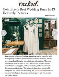 When Etsy asked Hrissa from Elika In Love to send the Crete gown from Paris to NYC, she somehow found a way to get the dress in the hands of Etsy Press within days. Crete, Wardrobe Rack, Presentation, Nyc, Bridal, Brides, Bride, New York, Bridal Gown