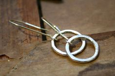 Rustic Sterling Silver Earrings