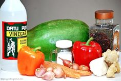 Atsarang Papaya (Pickled Green Papaya)