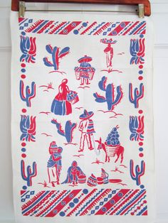 Festive Vintage Mexican Towel by NeatoKeen on Etsy, $12.00