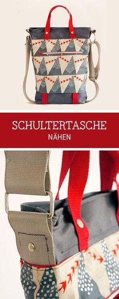 E-Book für eine Tasche zum Selbernähen, Schultertasche #nähen / #sewingpattern for a shopper bag made by frauscheiner ebooks via DaWanda.com