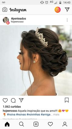 Pin By Kathy Karadolian On Hair In 2019 Wedding Hairstyles - Pin By Kathy Karadolian On Hair In 2019 Wedding Hairstyles – fancy hairstyles for quince fancy h - Sweet 16 Hairstyles, Quince Hairstyles, Fancy Hairstyles, Bride Hairstyles, Beach Hairstyles, Hairstyles Videos, Creative Hairstyles, Bridal Hair Updo, Wedding Hair And Makeup