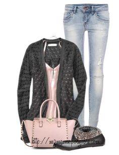 Light Pink & Dark Gray