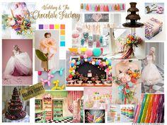 Chocolate factory wedding theme inspiration