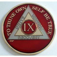 Red Silver & Gold AA Medallion  @Melissa Mitchell @Vanessa Harvey  Great gift idea