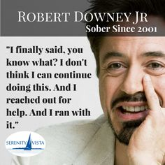 Our Biggest Sober Celebrity #robertdownyjr You Are The Man.  #soberfamouspeople #notdrinkinganymore