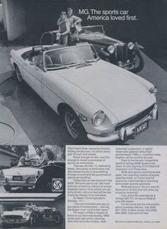 1972 MGB Sports Car Ad Vintage Advertising Print by AdVintageCom