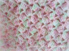 [Free Pattern] This Quick And Easy Crochet Baby Blanket With Adorable Lacy Stitch Is A Big Hit! - http://www.dailycrochet.com/free-pattern-this-quick-and-easy-crochet-baby-blanket-with-adorable-lacy-stitch-is-a-big-hit/