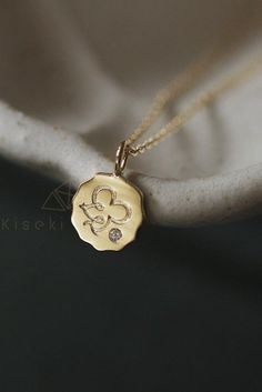 Shop this solid gold pendant. Perfect to wear at any occasion #goldpendant #goldnecklace #goldjewelry