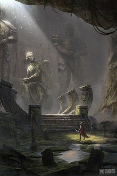 Ancient Graveyard by Ivan Sevic – Valery Yukihô – wallpaper hd Anime Art Fantasy, Fantasy Concept Art, Fantasy Kunst, Fantasy Rpg, Fantasy Artwork, Fantasy World, Dark Fantasy, Fantasy Art Landscapes, Fantasy Landscape