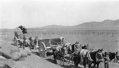 Traslado de agua en el desierto. Copiapó año 1913.
