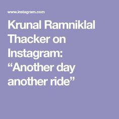 "Krunal Ramniklal Thacker on Instagram: ""Another day another ride"" Dagdusheth Ganpati, Instagram"