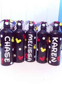 Personalized Disney Water Bottle by MakinItSassy on Etsy, $9.00