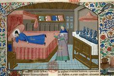 Buffet - Paris - Bibl. Mazarine - ms. 3878 - f.294- 1470-80 - Cas des nobles hommes et femmes
