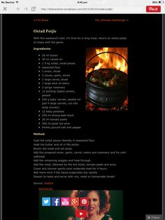 Oxtail potjie Oxtail Recipes, South African Recipes, Canola Oil, Collagen, Fathers, Food, Merry, Beef, Drink