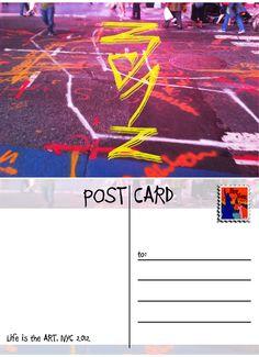 POST CARD (Street art in NYC)