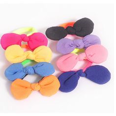 Find More Hair Accessories Information about New Sweet Fluorescent Color Bows Rabbit Ear Elastic Rubber Hair Bands for Women Girl Hair Accessories,High Quality loom part,China band satellite Suppliers, Cheap band apps from Jewelry In High Street on Aliexpress.com