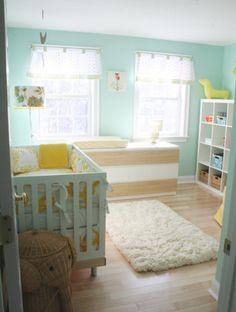 nursery ideas. Love the color scheme.. so bright and cheery!