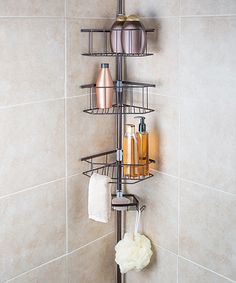 Bronze Laguna Four Tier Tension Pole Shower Caddy By