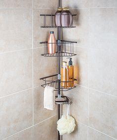 Richards Homewares Bronze Laguna Four-Tier Tension Pole Shower Caddy Shower Rack, Shower Holder, Shower Shampoo Holder, Bathroom Organization, Bathroom Ideas, Organization Ideas, Bathroom Goals, Bath Ideas, Bathroom Storage