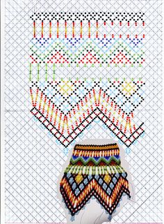 Diy Necklace Patterns, Bead Loom Patterns, Jewelry Patterns, Beading Patterns, Loom Beading, Bead Weaving, Beaded Necklace, Jewels, Beads