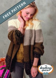 Mona's Snug Knit Cardigan is a fantastic piece to craft for fall and winter. It's simple, classy, and easily pairs with your favorite ensemble. In fact, it makes for a chic gift idea for your best friend's birthday. | Discover over 5,500 free knitting patterns at theknittingspace.com Christmas Knitting Patterns, Knitting Patterns Free, Free Knitting, Baby Knitting, Loom Knitting, Knitting Ideas, Baby Patterns, Knit Patterns, Baby Scarf