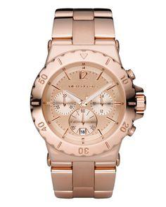 Michael Kors Rose Golden Chronograph Watch.