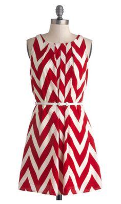 Modcloth - chevron print red bridesmaid dress, unique bridesmaid dress