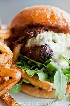 YUM: Bacon Jam & Blue Cheese Burger