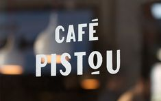 Logotype and hand painted signage for Café Pistou by Ragged Edge.