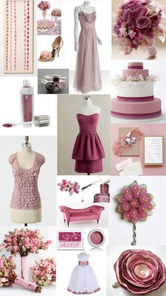 Rose/Blush Pink & Mauve