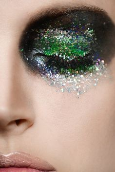 Glitter Eyes, makeup by Lis Krebs, photograph by Olivia Lazer
