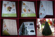 Albero di Natale fatto con una rivista