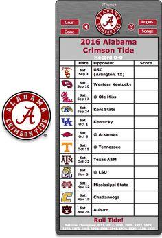 Get your 2016 Alabama Crimson Tide Football Schedule Mac App for Mac OS X - Roll Tide!  http://2thumbzmac.com/teamPages/Alabama_Crimson_Tide.htm