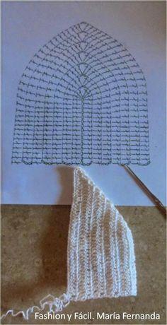 tops a crochet paso a paso ile ilgili görsel sonucu Crochet Bra, Crochet Shirt, Crochet Crop Top, Crochet Woman, Crochet Hats, Aya Couture, Artisanats Denim, Crochet Stitches For Beginners, Knit Cardigan Pattern
