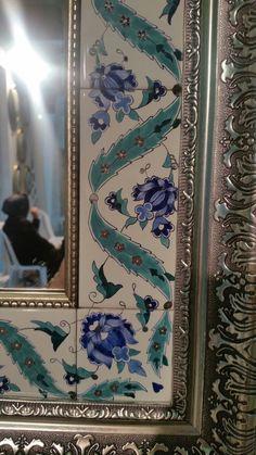 China Painting, Stone Painting, Tile Art, Mosaic Art, Pottery Painting, Pottery Art, Giant Paper Flowers, Turkish Art, Mirror Art