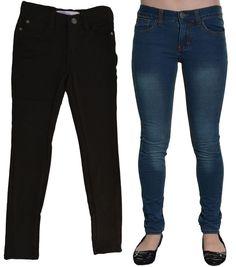 Vigoss Girls Jeans Knit Leggings 6 12 Jeggings Adjustable Waist Pants Buttons  #Vigoss #LeggingsJeggings #DressyEverydayHoliday