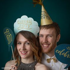 Printable New Year's Eve Hats for 2017