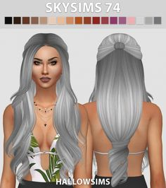 Skysims 74 hair retexture at Hallow Sims via Sims 4 Updates