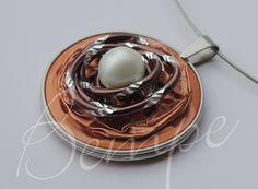 Nespresso-Kette Schmuck orange/ocker von Bempe - pfiffige Geschenke auf DaWanda.com