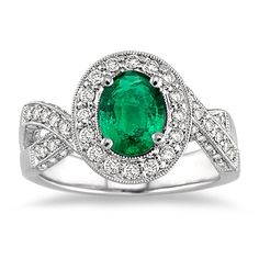 Ashi Diamonds emerald ring