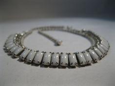 Vintage 1950s Kramer Wedding Necklace #vintage #necklace #jewelry #kramer #milkglass #1950s #bridalfashions @Etsy
