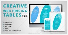 18 Colorful Pricing Table PSD Templates