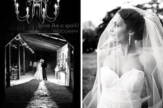I love the lighting in the photo on the left. Jordan is a beautiful young woman, and made an exceptionally gorgeous bride.