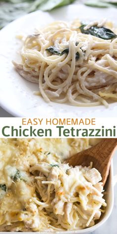 An easy Chicken Tetrazzini recipe made from scratch with real ingredients. Also, tips for making healthy chicken or turkey tetrazzini. Pasta Recipes, Chicken Recipes, Cooking Recipes, Healthy Chicken, Healthy Recipes, Healthy Breakfasts, Recipes With Spaghetti Noodles, Healthy Suppers, Leftover Spaghetti